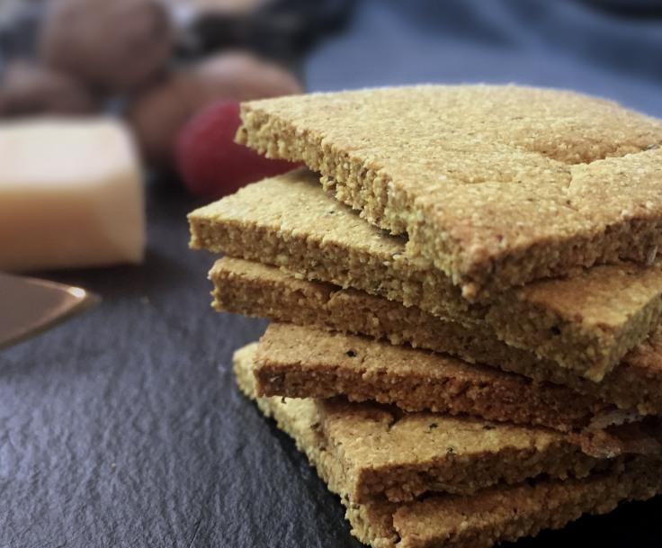 Rosemary & turmeric gluten free crackers